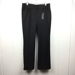 NWT Express Editor Barely Boot Black Pants - 6S